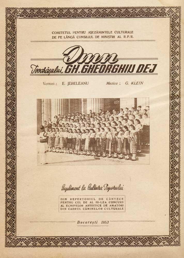 Imn Tovarasului Gh. Gheorghiu Dej, 1953