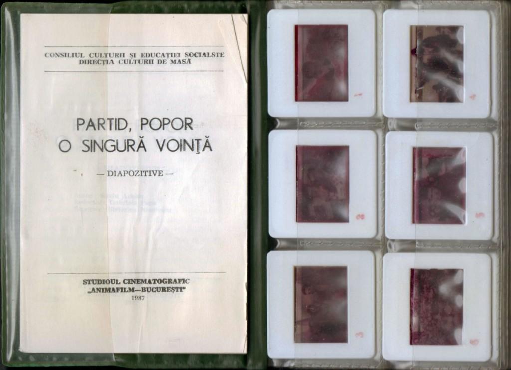 Partid, Popor o singura vointa, Studioul Animafilm, 1987, 36 diapozitive