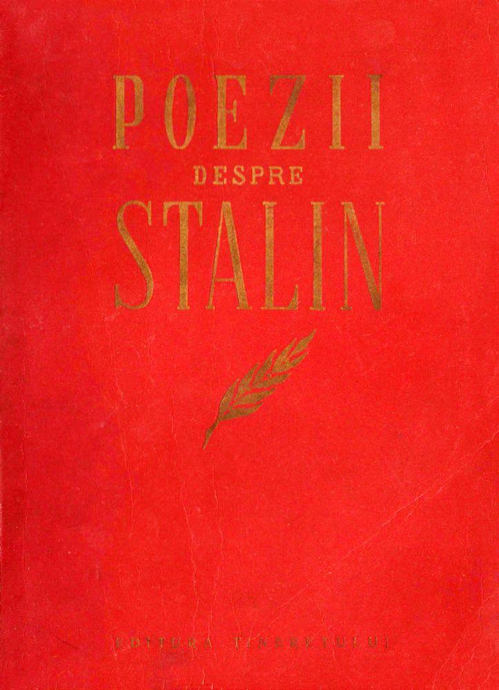Poezii depspre Stalin, Editra Tineretului a CC a UTM. 1951