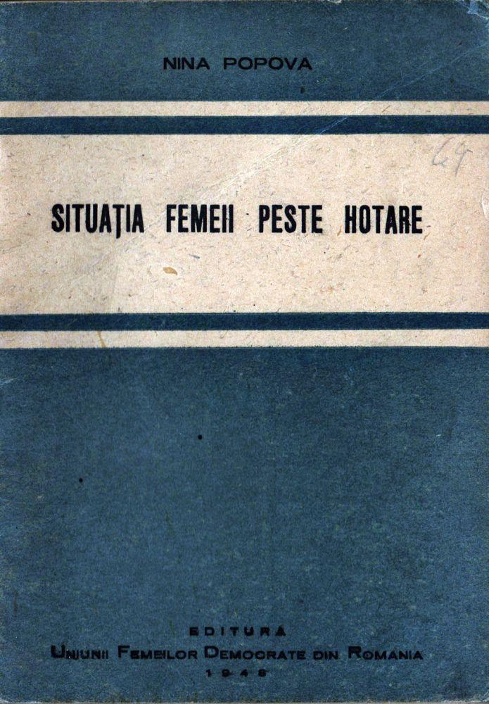 Situratia femeii peste hotare, Editura femeilor democrate din Romania, 1948
