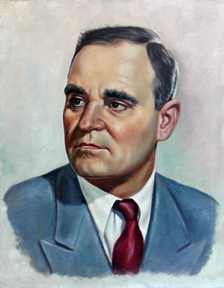 Adina Paula Moscu, Portretul lui Gh. Gheorghiu-Dej, oil on canvas, 1950, 55x71 cm