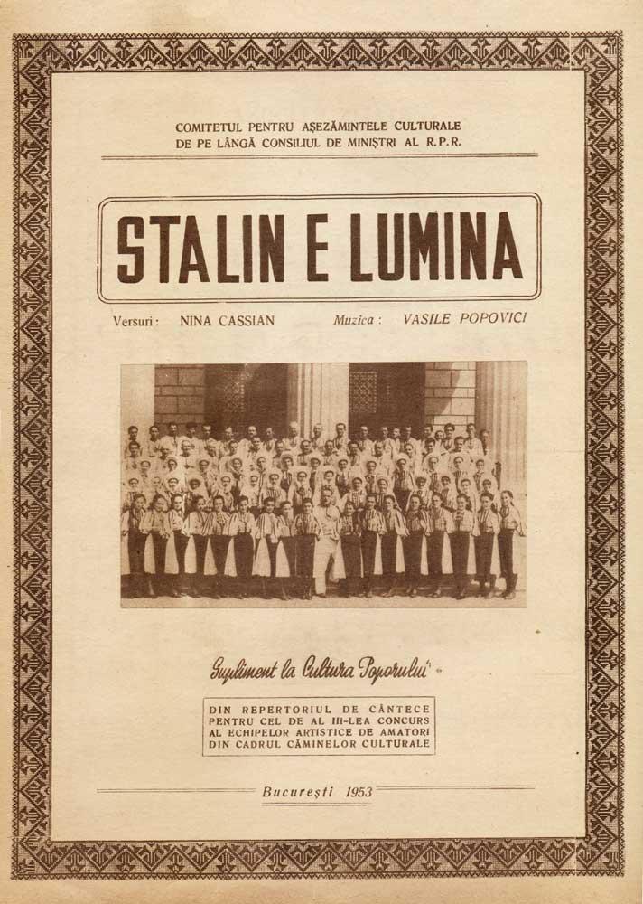 Stalin e lumina, 1953