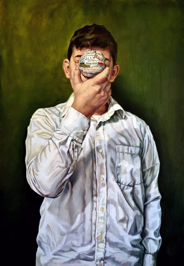 Anca Danila, Accessing my own status, 2015, oil on canvas, 70x100 cm