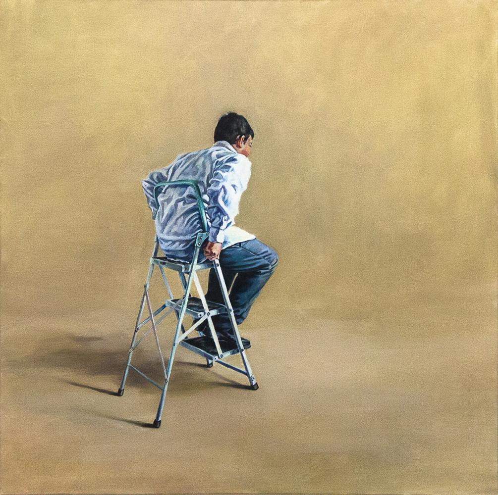 Anca Danila, Untitled, 2014, oil on canvas 80x80cm