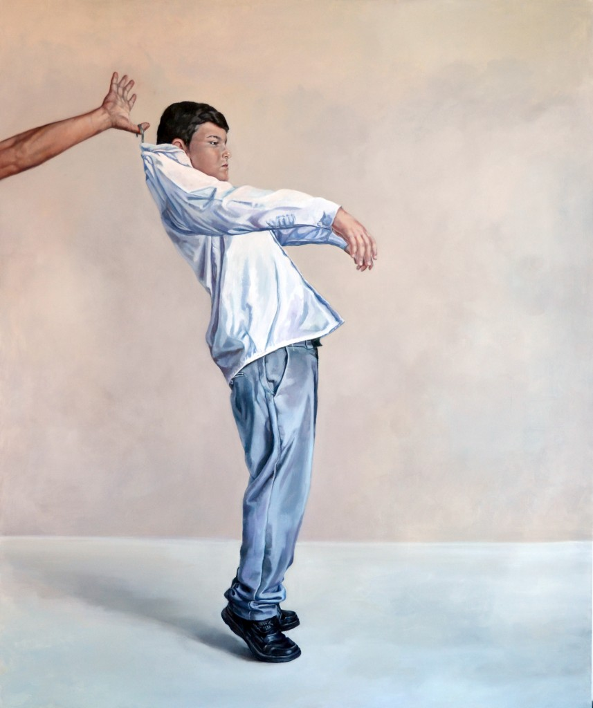 Anca Danila, Under Control, 2015, oil on canvas, 100x120 cm