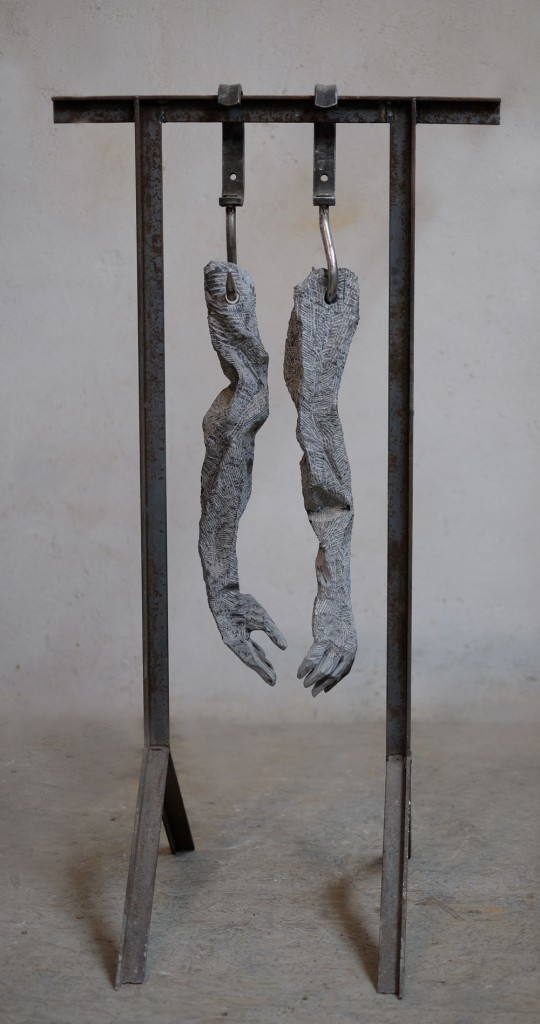 Cătălin Bădărău, Working force, 2014, Sculpture, mixed media, 140x70x30cm (HxWxD)