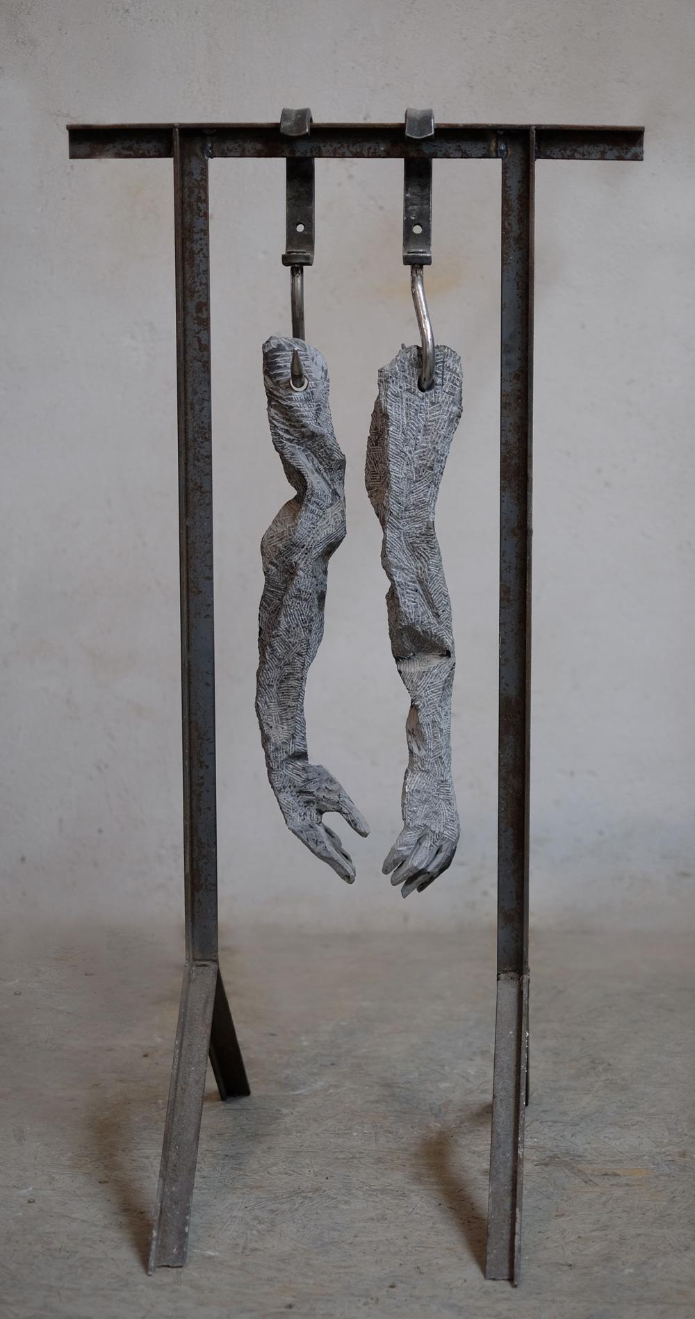 Cătălin Bădărău, Working force, 2014, Sculpture, mixed media, 140x70x30cm (HxWxD)