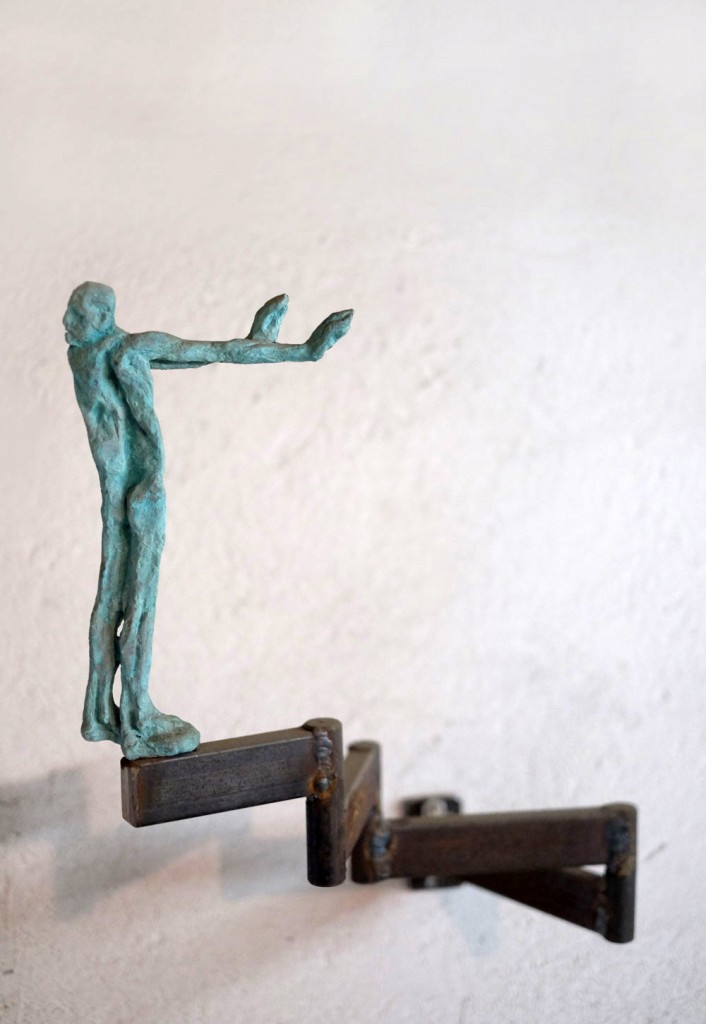 Catalin Badarau, Misled, Sculpture, bronze and iron,  aprox. 50X5X10 cm (HXDXW)   (3)