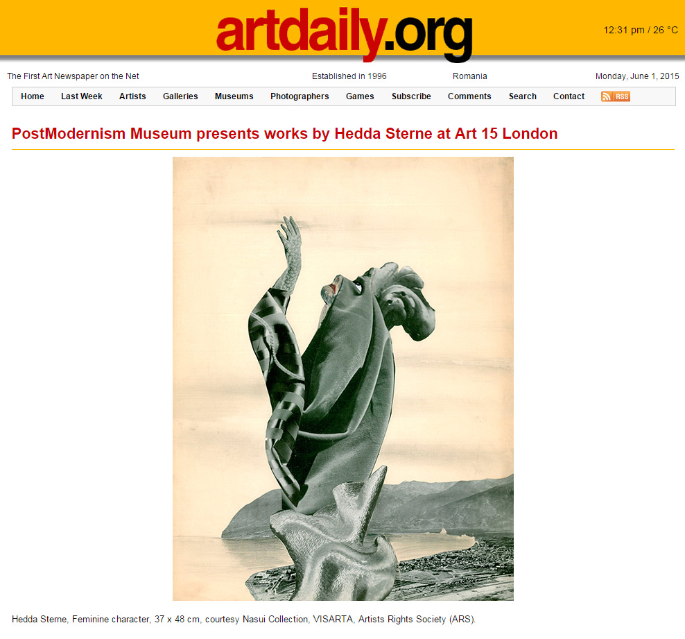 Artdaily.org, May 21, 2015