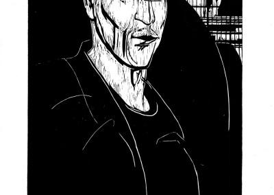Alma Redlinger, Cazangiu, 1961, woodcut, 34×48,5 cm