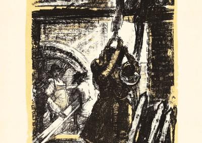 Ana Iluţ, Muncind pentru electrificarea satelor, 1957, 34x38 cm