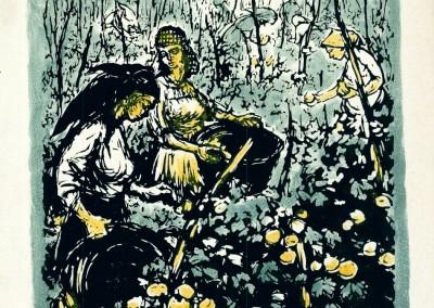 Eva Cerbu, Printre colectiviste, 44x45 cm