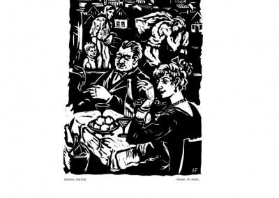 Frieda Imling, Aveau de toate..., 1959, linocut print, 34×48,5 cm