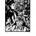 Frieda Imling, Studentii, 1959, linocut print, 34×48,5 cm