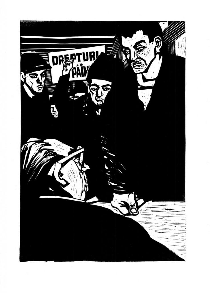 Mihail Gion, Socoteala, 1963, linocut, 34x48,5 cm