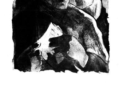 Natalia Matei, In ilegalitate, 1960, aquatint, 34x45 cm