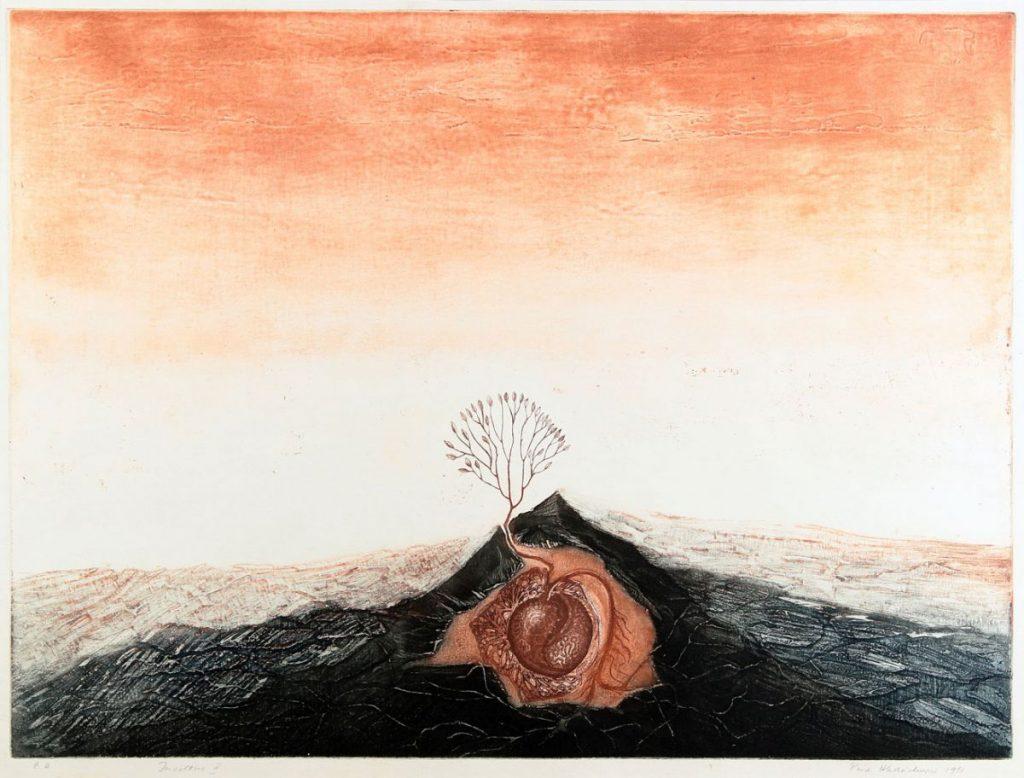 Puia Hortensia Masichievici, Încolțire II, E.A.,1981, 70x100 cm