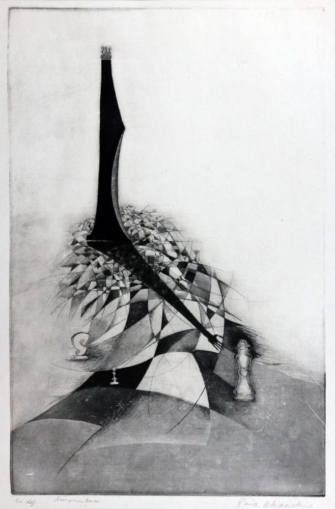 Puia Hortensia Masichievici, Amenințare, exemplar definitiv, 70x50 cm