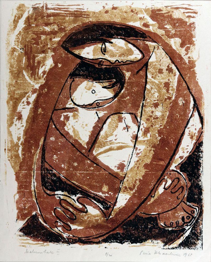 Puia Hortensia Masichievici, Maternitate II, 120, 1969, 45x36 cm
