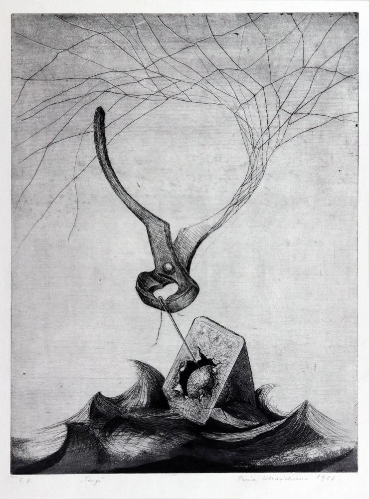 Puia Hortensia Masichievici, Tongs, 1986, 60x50 cm