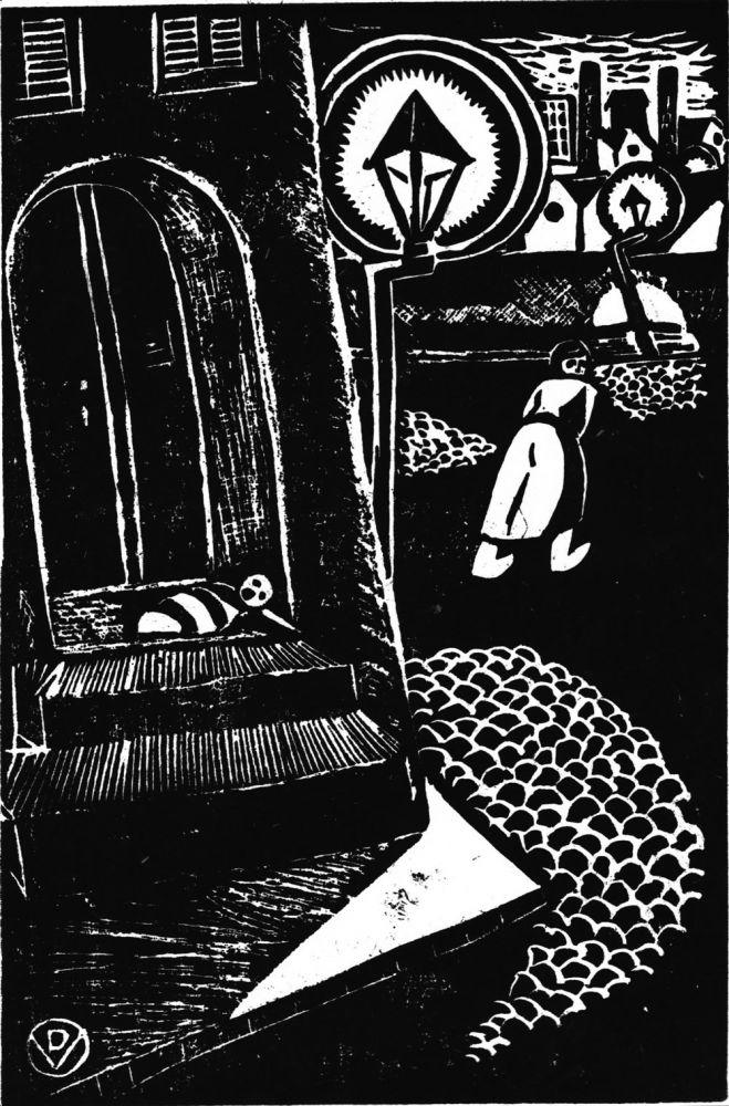 Vasile Dobrian, Abandonment, cca 1940, engraving, 35x25 cm