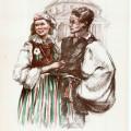 Florica Cordescu, Tineri din R.P. Polonă,1955, ESPLA, 24x33 cm