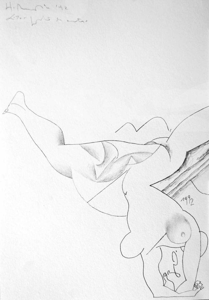 Henry Mavrodin, Erotic, 1992, litografie, 34 from 100, 49 × 34 cm