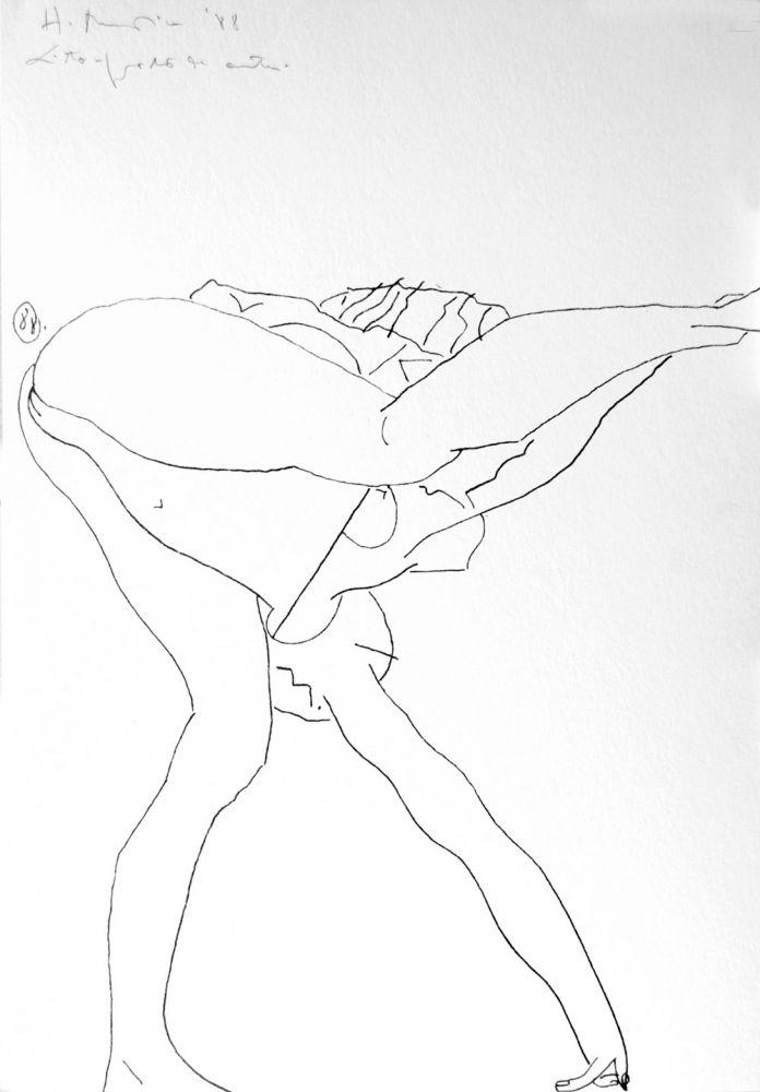 Henry Mavrodin, Litografie, 60/100. 1988, 34 x 49 cm