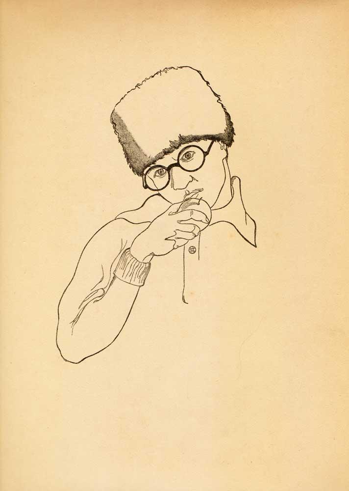Vasile Kazar, Selfportrait, Pita de mălai (Corn bread) series, 1937, 35x25 cm