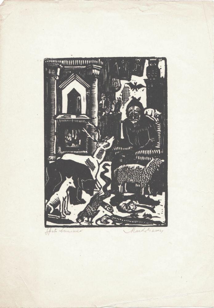 Marcel Olinescu, Sfinta Duminica, xilogravura 25x17,5 cm