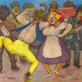 Marcel Olinescu, Wedding, tempera on paper, 32x22,5 cm