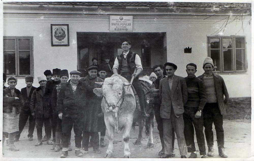 Alexandru Velceanu, Collectivization 1959, 13x8,5 cm