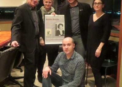 From left to right: Valery Oisteanu, Sarah Boxer, Mircea Suciu, Eduard Andrei, Shaina Larrivee, Cosmin Nasui