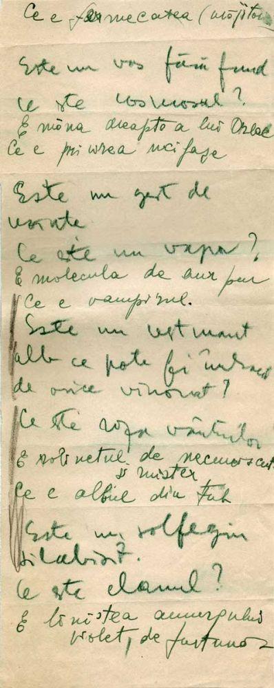Hedda Sterne, Theodore Brauner, Medi Wechsler Dinu, Cadavre exquis 13, ink, pen and crayons on paper, 11,5x29 cm