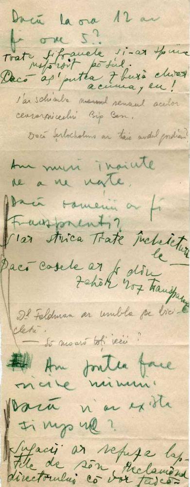 Hedda Sterne, Theodore Brauner, Medi Wechsler Dinu, Cadavre exquis 14, ink, pen and crayons on paper, 11,5x29 cm
