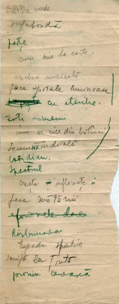 Hedda Sterne, Theodore Brauner, Medi Wechsler Dinu, Cadavre exquis 15, ink, pen and crayons on paper, 11,5x29 cm
