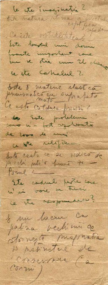 Hedda Sterne, Theodore Brauner, Medi Wechsler Dinu, Cadavre exquis 16, ink, pen and crayons on paper, 11,5x31,5 cm