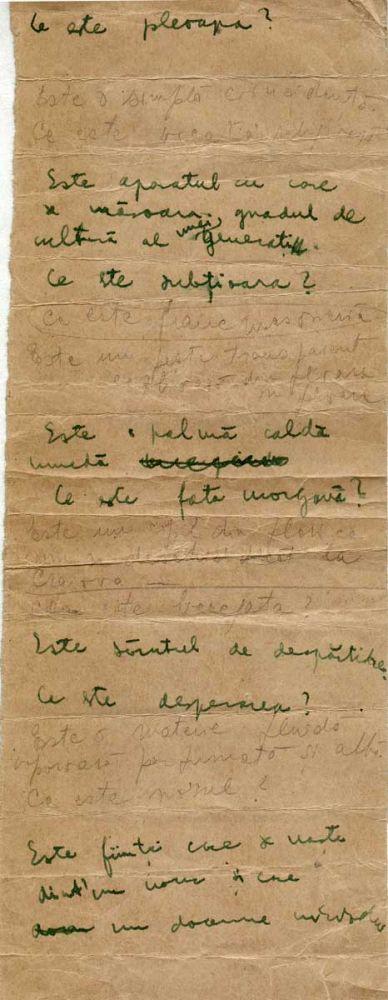 Hedda Sterne, Theodore Brauner, Medi Wechsler Dinu, Cadavre exquis 16 verso, ink, pen and crayons on paper, 11,5x31,5 cm