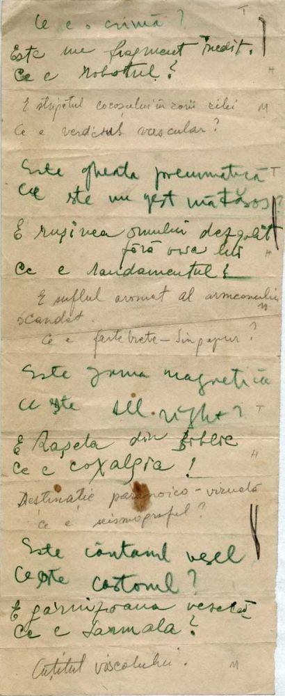 Hedda Sterne, Theodore Brauner, Medi Wechsler Dinu, Cadavre exquis 17, ink, pen and crayons on paper, 11,5x29 cm