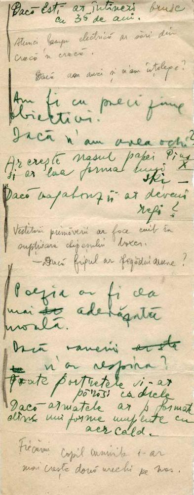 Hedda Sterne, Theodore Brauner, Medi Wechsler Dinu, Cadavre exquis 18, ink, pen and crayons on paper, 11,5x29 cm