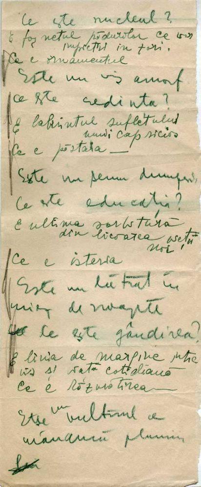 Hedda Sterne, Theodore Brauner, Medi Wechsler Dinu, Cadavre exquis 19, ink, pen and crayons on paper, 11,5x29 cm