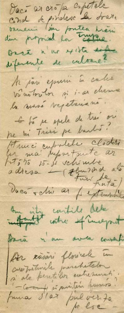 Hedda Sterne, Theodore Brauner, Medi Wechsler Dinu, Cadavre exquis 21, ink, pen and crayons on paper, 11,5x29 cm