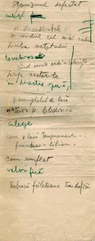 Hedda Sterne, Theodore Brauner, Medi Wechsler Dinu, Cadavre exquis 22, ink, pen and crayons on paper, 11,5x29 cm