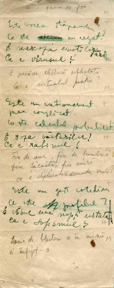 Hedda Sterne, Theodore Brauner, Medi Wechsler Dinu, Cadavre exquis 7, ink, pen and crayons on paper, 11,5x29 cm
