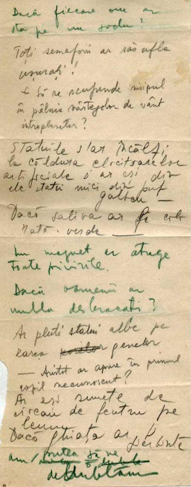 Hedda Sterne, Theodore Brauner, Medi Wechsler Dinu, Cadavre exquis 8, ink, pen and crayons on paper, 11,5x29 cm