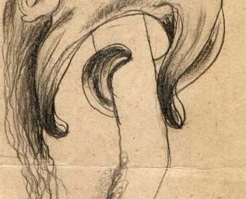Hedda Sterne, Theodore Brauner, Medi Wechsler Dinu, Cadavre exquis no 16, 1930-1932, crayons on paper, 31,5x11cm