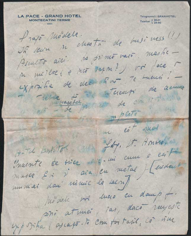 Letter sent from Italy by Hedda to Medi Wechsler 1