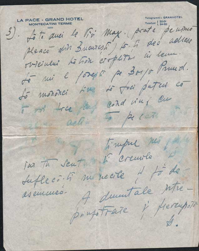 Letter sent from Italy by Hedda to Medi Wechsler 3