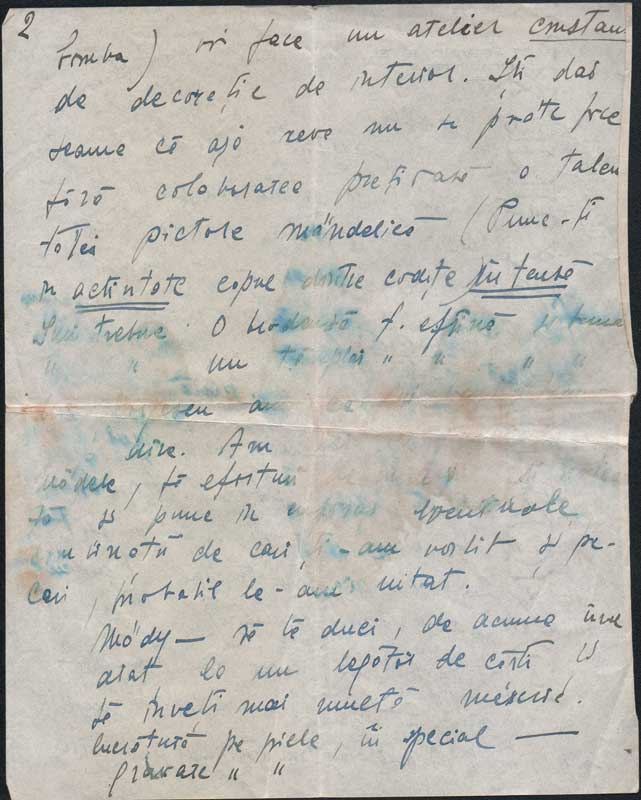 Letter sent from Italy by Hedda to Medi Wechsler 2