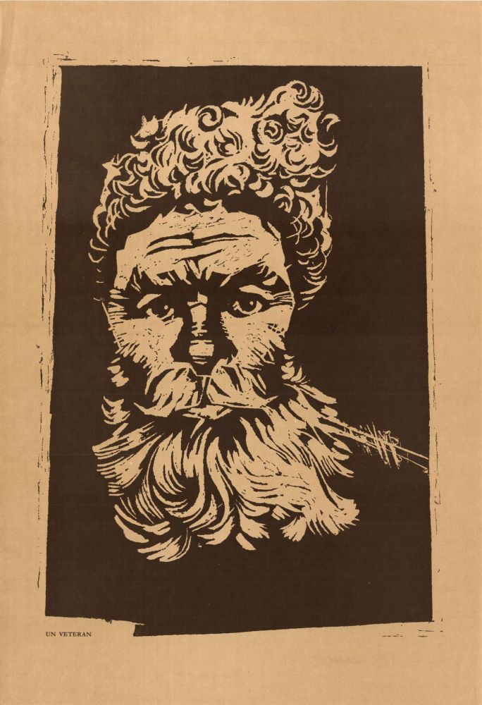Ilie Schon, A Veteran, 1970, limited propaganda edition, 48x33 cm